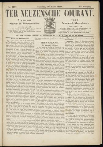 Ter Neuzensche Courant. Algemeen Nieuws- en Advertentieblad voor Zeeuwsch-Vlaanderen / Neuzensche Courant ... (idem) / (Algemeen) nieuws en advertentieblad voor Zeeuwsch-Vlaanderen 1880-03-10