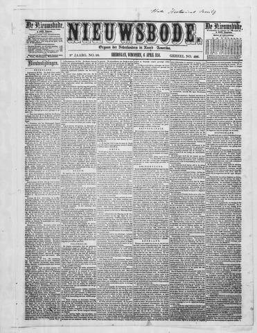 Sheboygan Nieuwsbode 1858-04-06