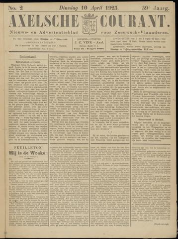 Axelsche Courant 1923-04-10