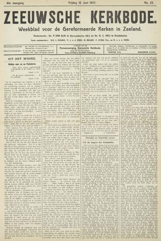 Zeeuwsche kerkbode, weekblad gewijd aan de belangen der gereformeerde kerken/ Zeeuwsch kerkblad 1927-06-10