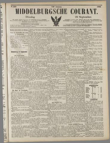 Middelburgsche Courant 1903-09-22