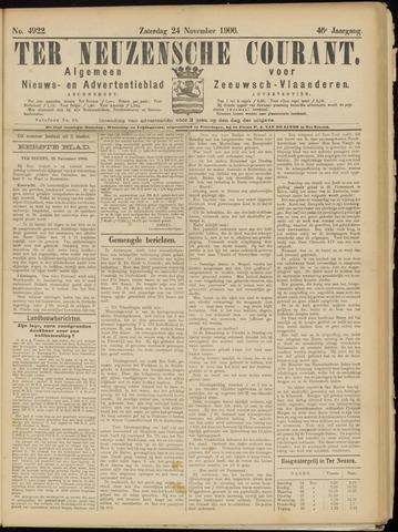 Ter Neuzensche Courant. Algemeen Nieuws- en Advertentieblad voor Zeeuwsch-Vlaanderen / Neuzensche Courant ... (idem) / (Algemeen) nieuws en advertentieblad voor Zeeuwsch-Vlaanderen 1906-11-24