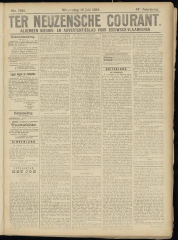 Ter Neuzensche Courant. Algemeen Nieuws- en Advertentieblad voor Zeeuwsch-Vlaanderen / Neuzensche Courant ... (idem) / (Algemeen) nieuws en advertentieblad voor Zeeuwsch-Vlaanderen 1924-07-16