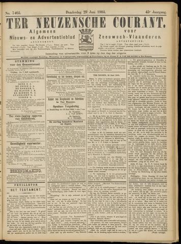 Ter Neuzensche Courant. Algemeen Nieuws- en Advertentieblad voor Zeeuwsch-Vlaanderen / Neuzensche Courant ... (idem) / (Algemeen) nieuws en advertentieblad voor Zeeuwsch-Vlaanderen 1905-06-29