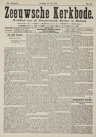 Zeeuwsche kerkbode, weekblad gewijd aan de belangen der gereformeerde kerken/ Zeeuwsch kerkblad 1920-07-16