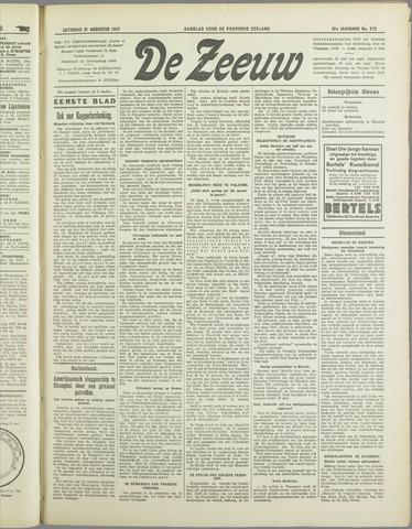 De Zeeuw. Christelijk-historisch nieuwsblad voor Zeeland 1937-08-21
