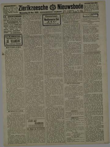 Zierikzeesche Nieuwsbode 1925-11-25
