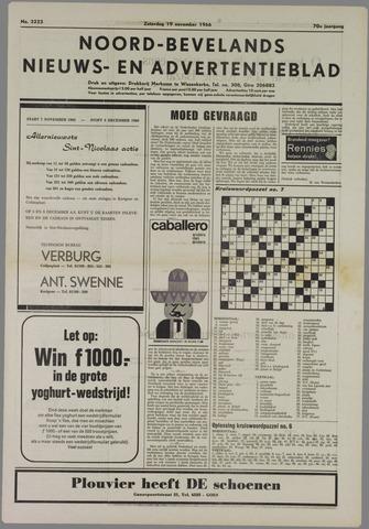 Noord-Bevelands Nieuws- en advertentieblad 1966-11-19