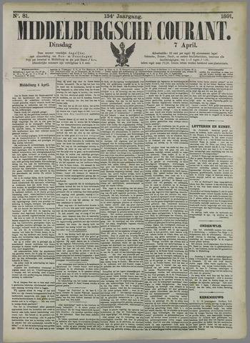 Middelburgsche Courant 1891-04-07