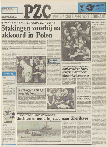 Provinciale Zeeuwse Courant 1980-09-01