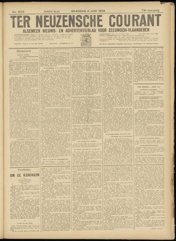 Ter Neuzensche Courant. Algemeen Nieuws- en Advertentieblad voor Zeeuwsch-Vlaanderen / Neuzensche Courant ... (idem) / (Algemeen) nieuws en advertentieblad voor Zeeuwsch-Vlaanderen 1934-06-04