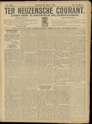 Ter Neuzensche Courant. Algemeen Nieuws- en Advertentieblad voor Zeeuwsch-Vlaanderen / Neuzensche Courant ... (idem) / (Algemeen) nieuws en advertentieblad voor Zeeuwsch-Vlaanderen 1919-03-25