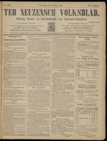 Ter Neuzensch Volksblad. Vrijzinnig nieuws- en advertentieblad voor Zeeuwsch- Vlaanderen / Zeeuwsch Nieuwsblad. Nieuws- en advertentieblad voor Zeeland 1917-12-19