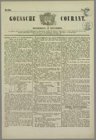 Goessche Courant 1852-11-04
