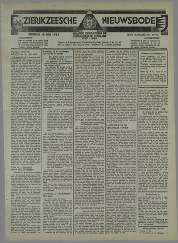 Zierikzeesche Nieuwsbode 1942-05-15
