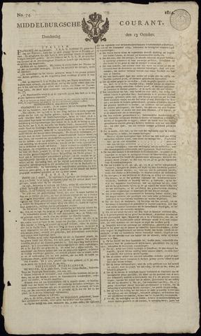 Middelburgsche Courant 1814-10-13