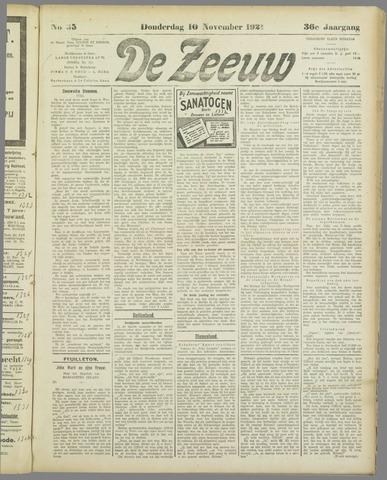 De Zeeuw. Christelijk-historisch nieuwsblad voor Zeeland 1921-11-10