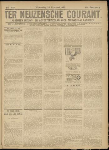 Ter Neuzensche Courant. Algemeen Nieuws- en Advertentieblad voor Zeeuwsch-Vlaanderen / Neuzensche Courant ... (idem) / (Algemeen) nieuws en advertentieblad voor Zeeuwsch-Vlaanderen 1928-02-22