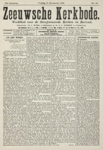 Zeeuwsche kerkbode, weekblad gewijd aan de belangen der gereformeerde kerken/ Zeeuwsch kerkblad 1920-11-12