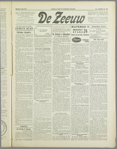 De Zeeuw. Christelijk-historisch nieuwsblad voor Zeeland 1937-07-02