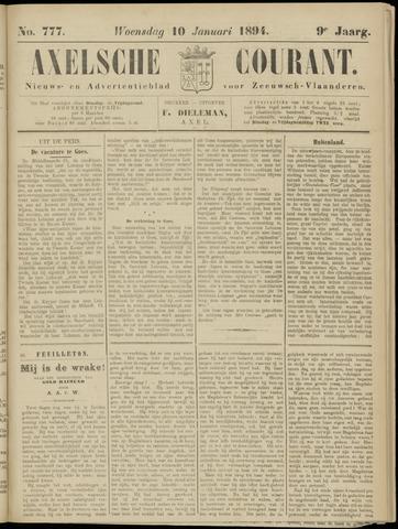 Axelsche Courant 1894-01-10