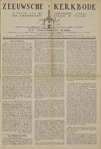 Zeeuwsche kerkbode, weekblad gewijd aan de belangen der gereformeerde kerken/ Zeeuwsch kerkblad 1946-02-08