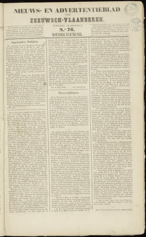 Ter Neuzensche Courant. Algemeen Nieuws- en Advertentieblad voor Zeeuwsch-Vlaanderen / Neuzensche Courant ... (idem) / (Algemeen) nieuws en advertentieblad voor Zeeuwsch-Vlaanderen 1855-06-13