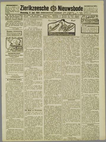 Zierikzeesche Nieuwsbode 1924-06-11