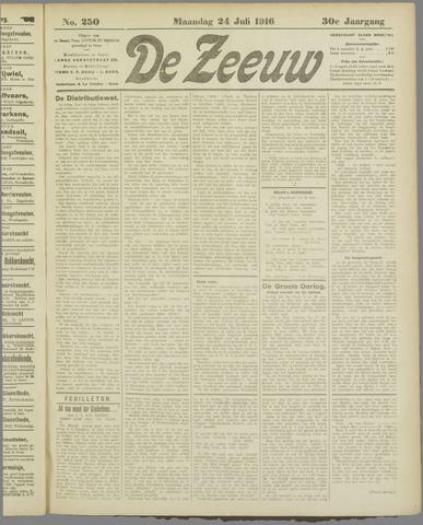 De Zeeuw. Christelijk-historisch nieuwsblad voor Zeeland 1916-07-24