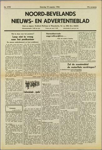 Noord-Bevelands Nieuws- en advertentieblad 1956-08-18