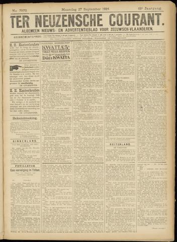 Ter Neuzensche Courant. Algemeen Nieuws- en Advertentieblad voor Zeeuwsch-Vlaanderen / Neuzensche Courant ... (idem) / (Algemeen) nieuws en advertentieblad voor Zeeuwsch-Vlaanderen 1926-09-27