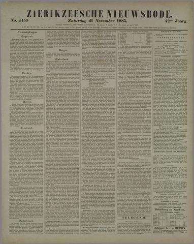 Zierikzeesche Nieuwsbode 1885-11-21