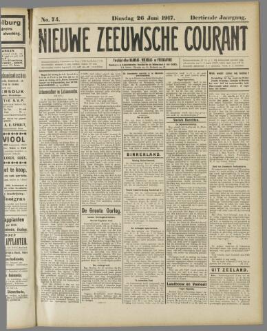 Nieuwe Zeeuwsche Courant 1917-06-26