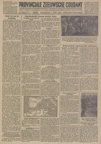 Provinciale Zeeuwse Courant 1942-11-11