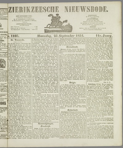 Zierikzeesche Nieuwsbode 1854-09-25