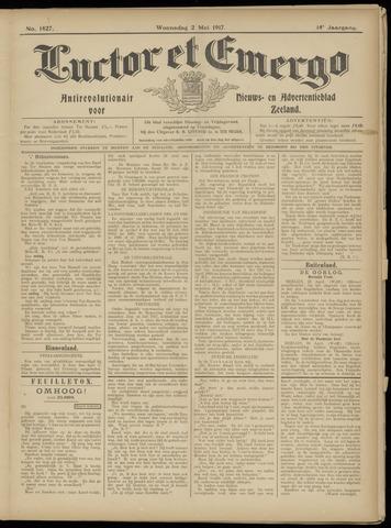 Luctor et Emergo. Antirevolutionair nieuws- en advertentieblad voor Zeeland / Zeeuwsch-Vlaanderen. Orgaan ter verspreiding van de christelijke beginselen in Zeeuwsch-Vlaanderen 1917-05-02