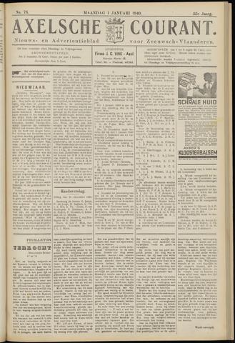 Axelsche Courant 1940
