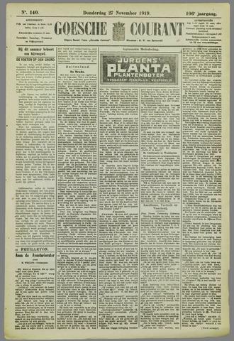 Goessche Courant 1919-11-27