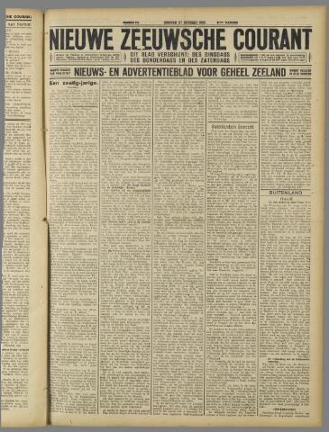 Nieuwe Zeeuwsche Courant 1925-10-27