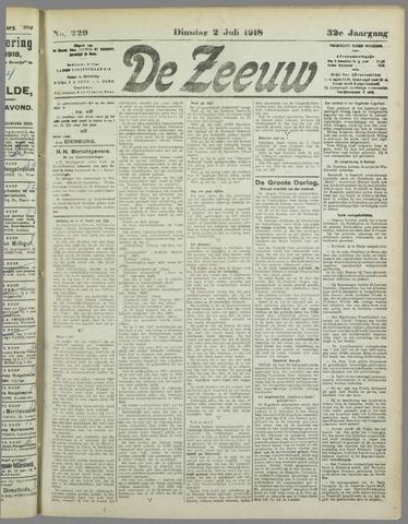 De Zeeuw. Christelijk-historisch nieuwsblad voor Zeeland 1918-07-02