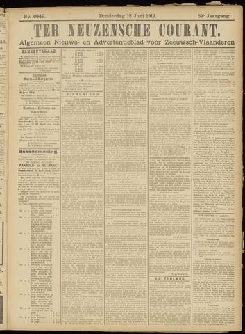 Ter Neuzensche Courant. Algemeen Nieuws- en Advertentieblad voor Zeeuwsch-Vlaanderen / Neuzensche Courant ... (idem) / (Algemeen) nieuws en advertentieblad voor Zeeuwsch-Vlaanderen 1919-06-12