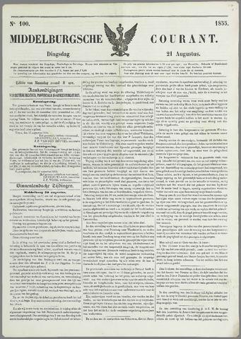 Middelburgsche Courant 1855-08-21