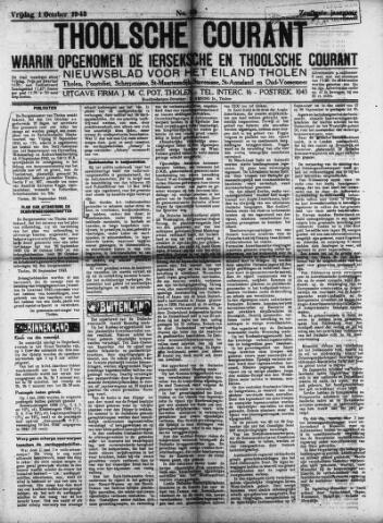 Ierseksche en Thoolsche Courant 1943-10-01