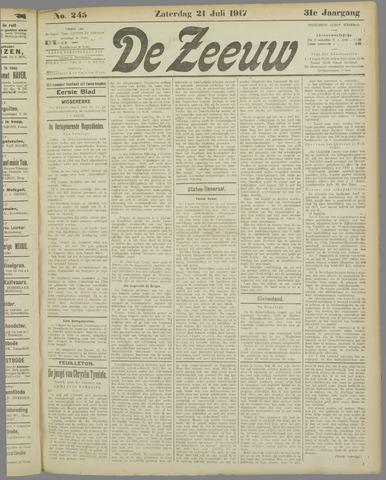 De Zeeuw. Christelijk-historisch nieuwsblad voor Zeeland 1917-07-21