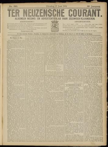 Ter Neuzensche Courant. Algemeen Nieuws- en Advertentieblad voor Zeeuwsch-Vlaanderen / Neuzensche Courant ... (idem) / (Algemeen) nieuws en advertentieblad voor Zeeuwsch-Vlaanderen 1919-06-17