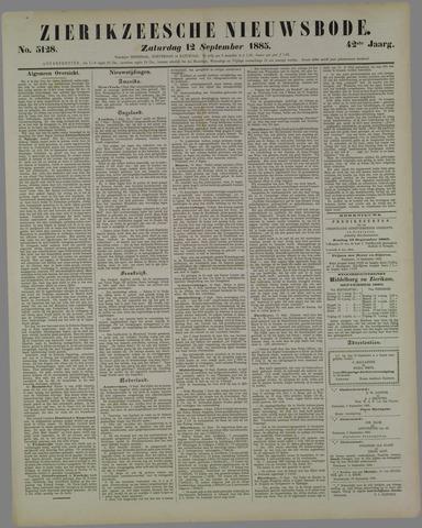 Zierikzeesche Nieuwsbode 1885-09-12