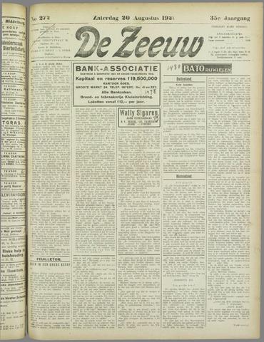 De Zeeuw. Christelijk-historisch nieuwsblad voor Zeeland 1921-08-20