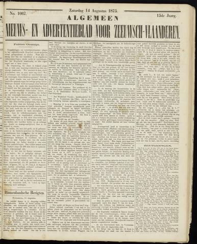 Ter Neuzensche Courant. Algemeen Nieuws- en Advertentieblad voor Zeeuwsch-Vlaanderen / Neuzensche Courant ... (idem) / (Algemeen) nieuws en advertentieblad voor Zeeuwsch-Vlaanderen 1875-08-14