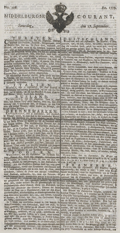 Middelburgsche Courant 1777-09-27