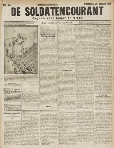 De Soldatencourant. Orgaan voor Leger en Vloot 1915-01-20